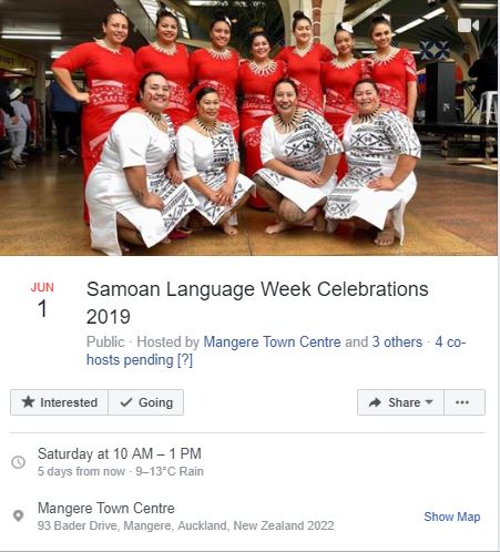 Samoan Language Week 2019