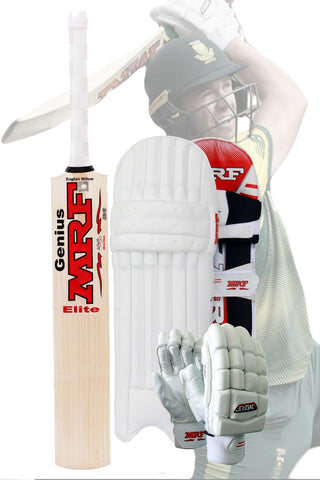 MRF Genius ELITE AB de Villiers Pro Grade Cricket Kit Combo