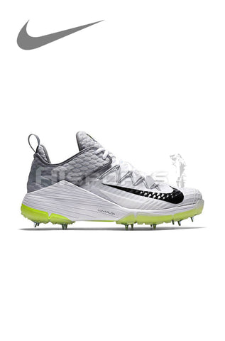 NIKE LUNAR AUDACITY WHITE/WOLF GREY CRICKET SPIKE SHOES