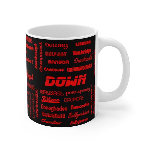 Down / An Dún Mug 11oz (0.33 l)-Freire Trade