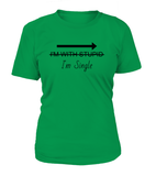 I'm Single Women's T-shirt-Freire Trade