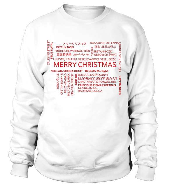 International Merry Christmas Sweatshirt-Freire Trade