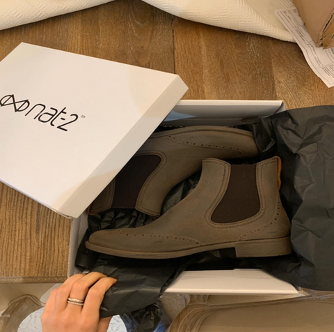 Unboxing the Nat-2™ Sustainable Chelsea Boots, sustainable fashion, Slow Nature shopping experience, nat-2™ Prime Chelsea Boots, 'eco' boots, spring and summer festivals, waterproof boots, timeless and vintage rainboots