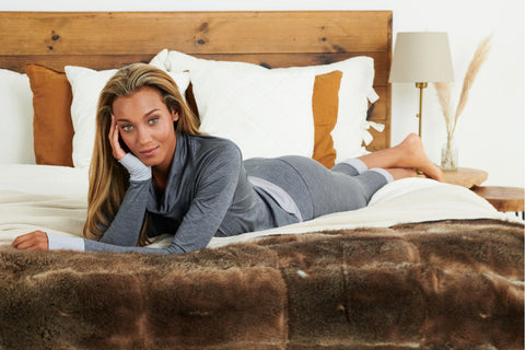grey sustainable PJs for women