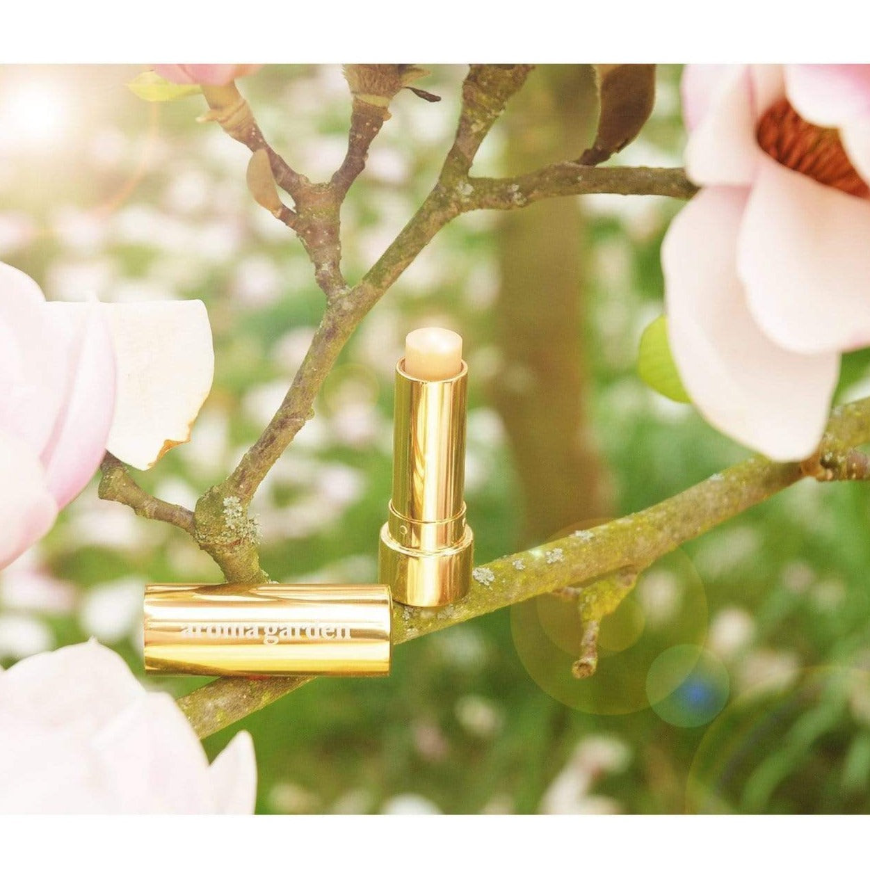 aroma garden cream Gold Boosting Lips Balm. sustainable fashion ethical fashion