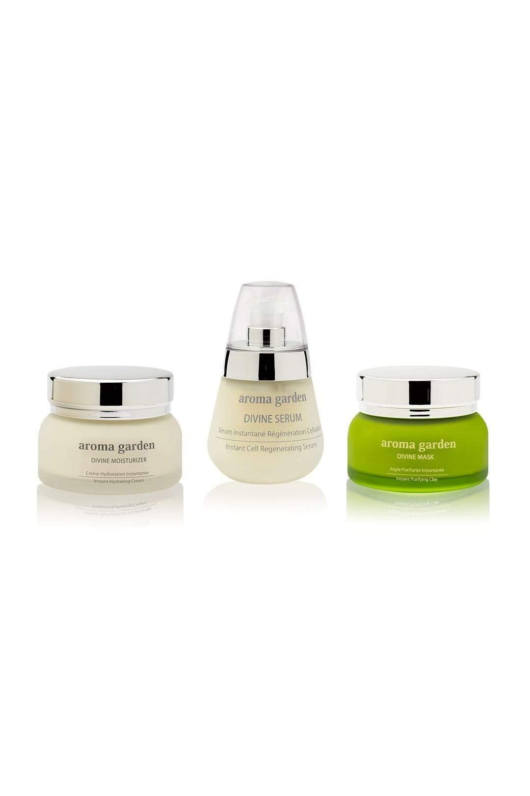 aroma garden cream Organic 3 in 1 Divine Gift Set (Moisturizer /Serum /Mask). sustainable fashion ethical fashion