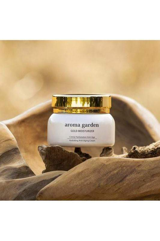 aroma garden cream Organic Hydrating Cream with Essential Oils 'Gold Moisturizer'. sustainable fashion ethical fashion