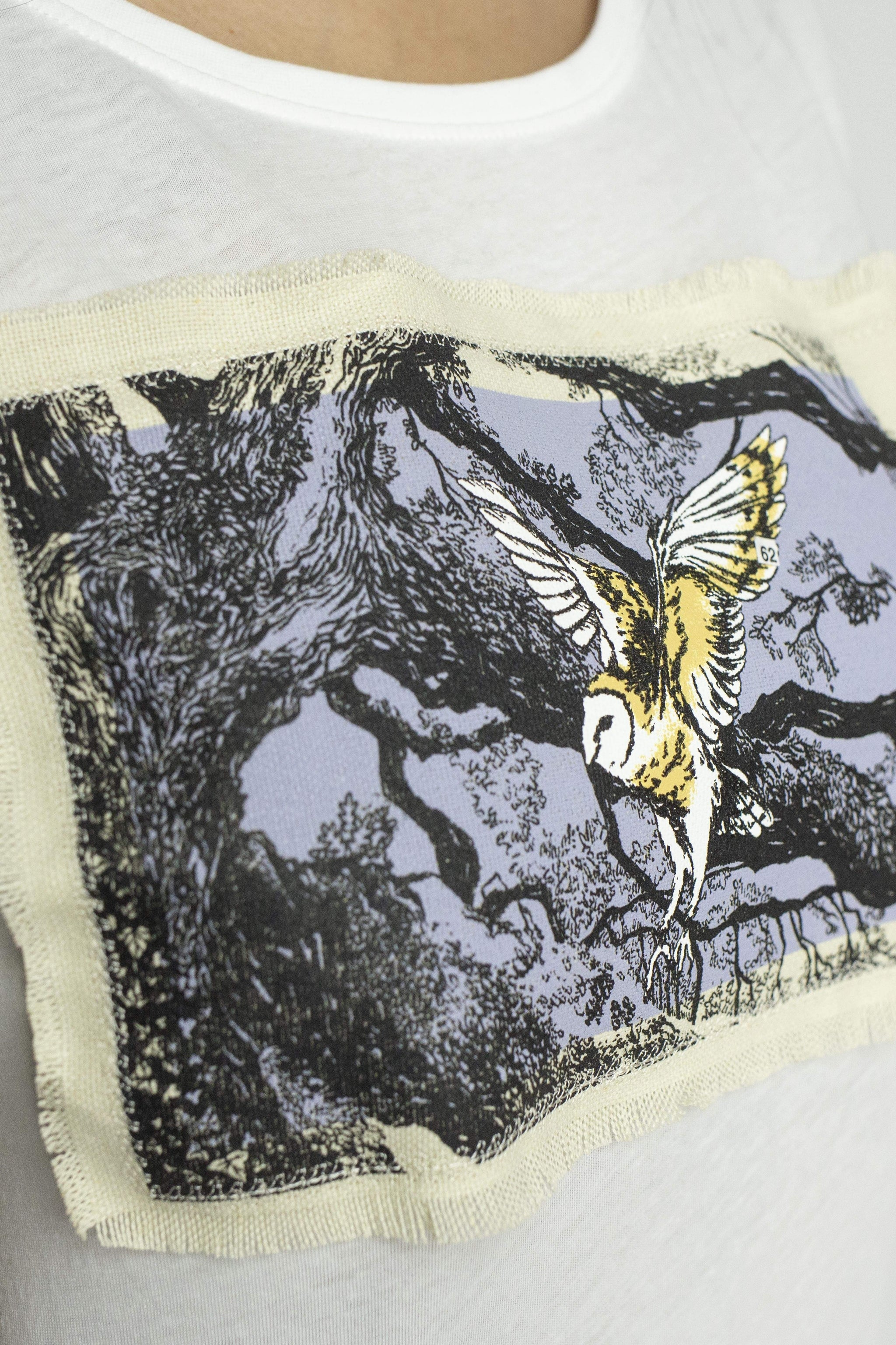 ASPISWEAR WildWhisper T-shirt WildBarn-owl Donna sustainable fashion ethical fashion