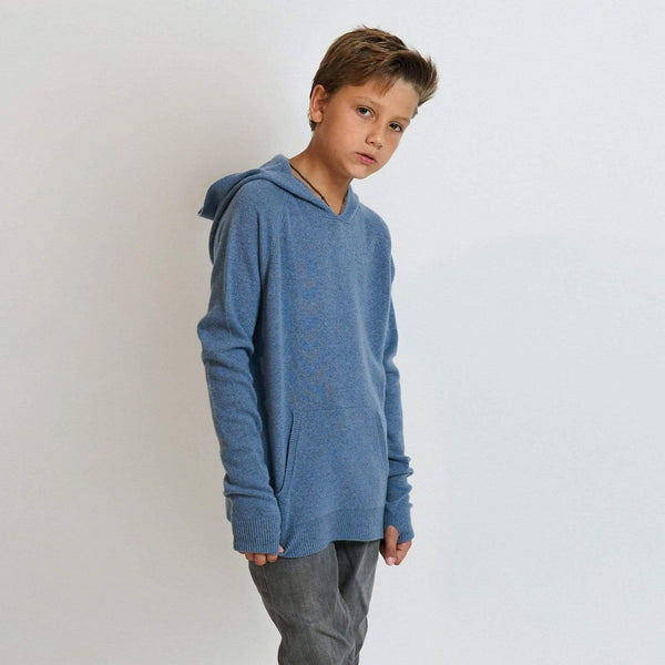 Baby & Taylor Hoodie KID HOODIE HEATHER BLUE sustainable fashion ethical fashion