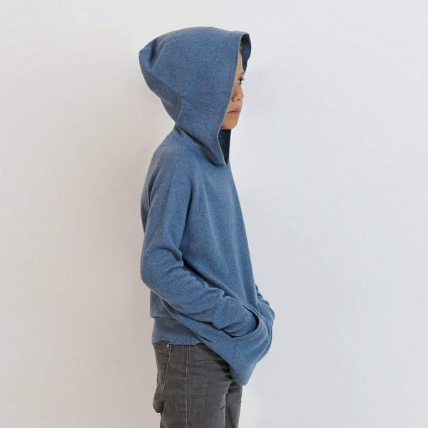 Baby & Taylor Hoodie KID HOODIE HEATHER BLUE 'TO CUSTOMIZE' sustainable fashion ethical fashion