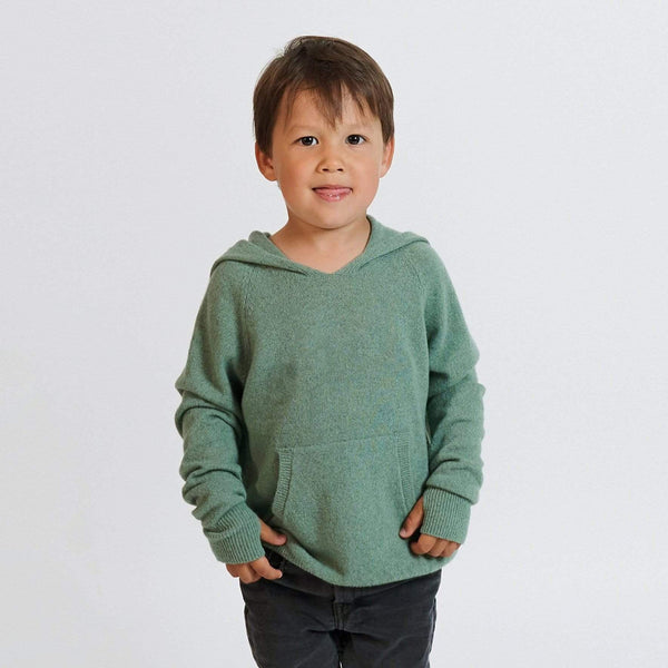 Baby & Taylor Hoodie KID HOODIE HEATHER GREEN 'TO CUSTOMIZE' sustainable fashion ethical fashion