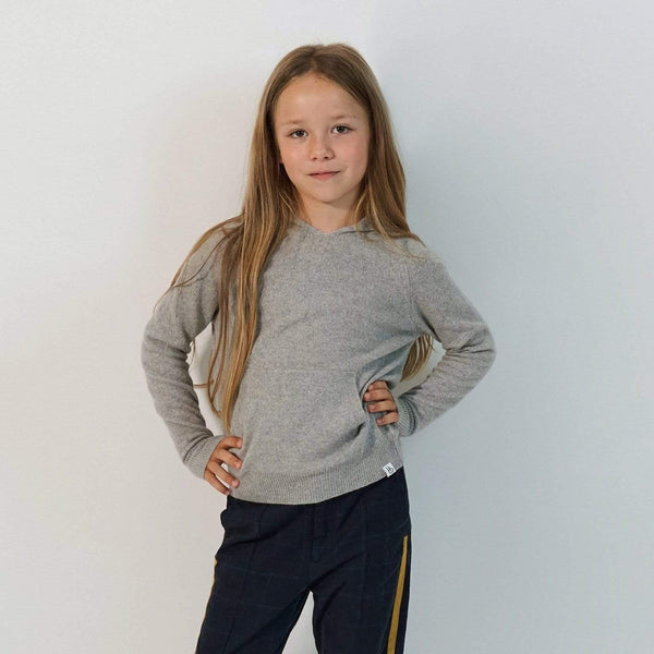 Baby & Taylor Hoodie KID HOODIE HEATHER GREY sustainable fashion ethical fashion
