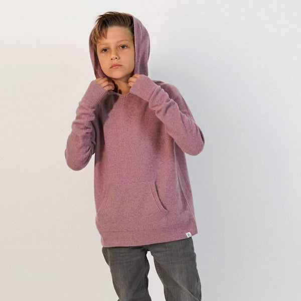Baby & Taylor Hoodie KID HOODIE HEATHER PINK sustainable fashion ethical fashion