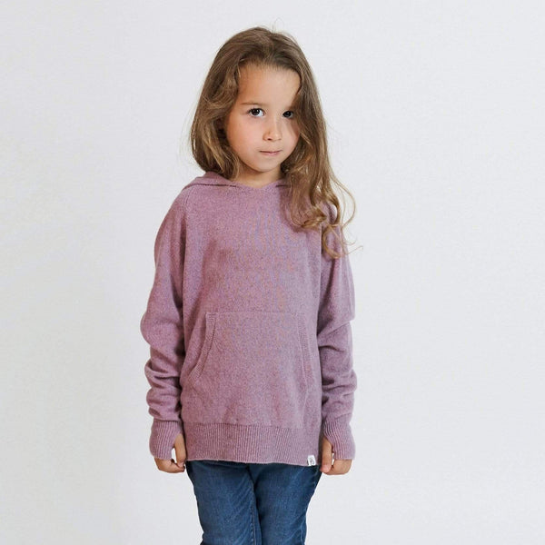 Baby & Taylor Hoodie KID HOODIE HEATHER PINK 'TO CUSTOMIZE' sustainable fashion ethical fashion