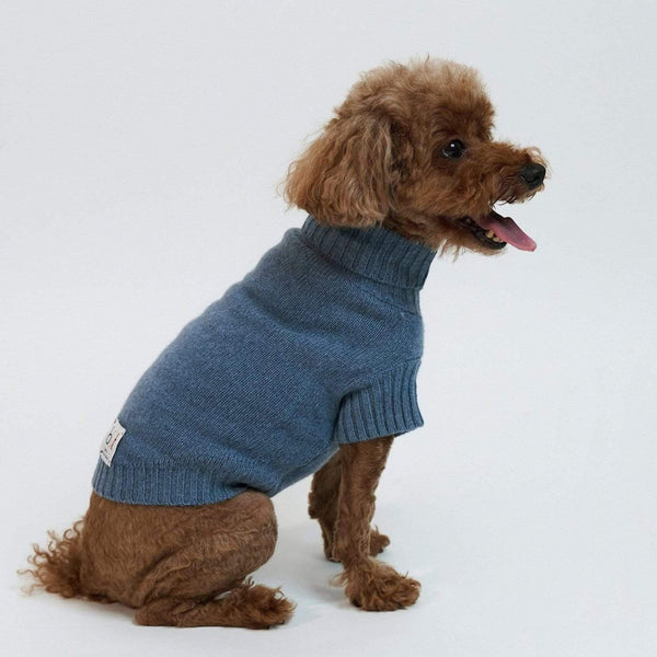 Baby & Taylor Sweater DOG SWEATER HEATHER BLUE sustainable fashion ethical fashion