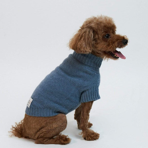 Baby & Taylor Sweater DOG SWEATER HEATHER BLUE 'TO CUSTOMIZE' sustainable fashion ethical fashion
