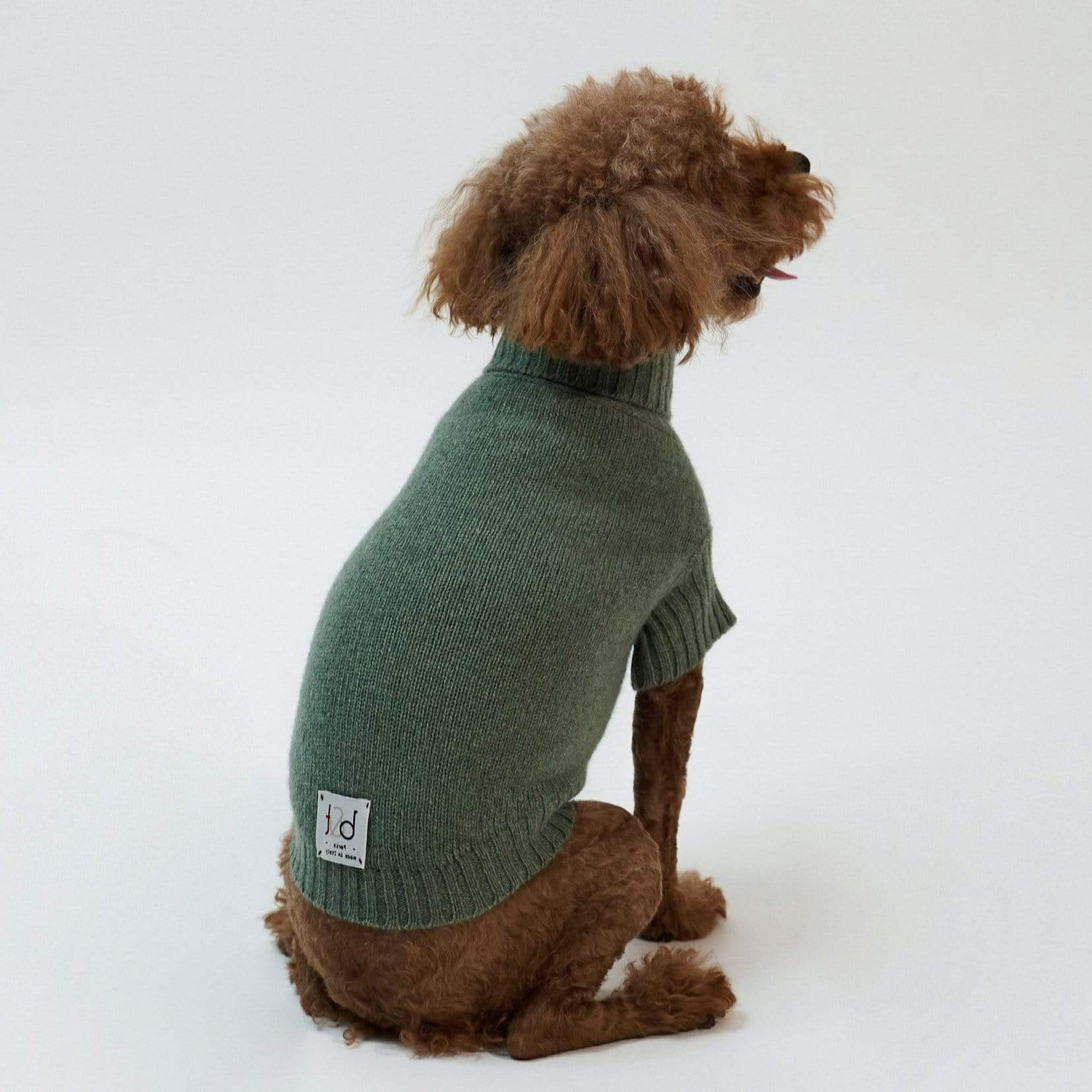 Baby & Taylor Sweater DOG SWEATER HEATHER GREEN 'TO CUSTOMIZE' sustainable fashion ethical fashion