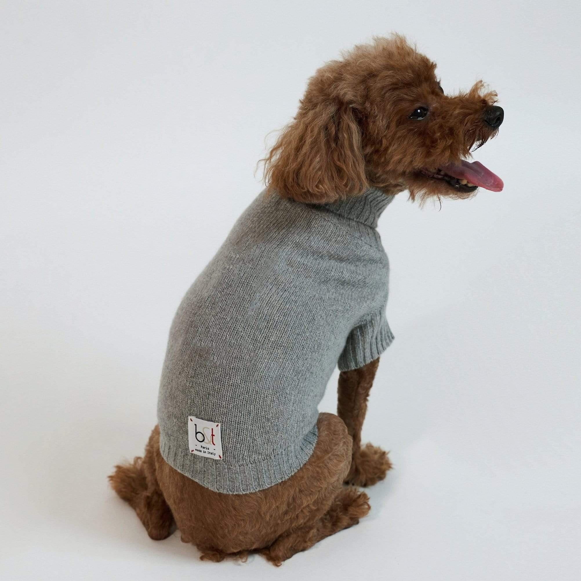Baby & Taylor Sweater DOG SWEATER HEATHER GREY 'TO CUSTOMIZE' sustainable fashion ethical fashion