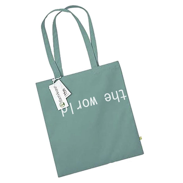 CAL-LUM accessories · accesorios the world tote bag sustainable fashion ethical fashion