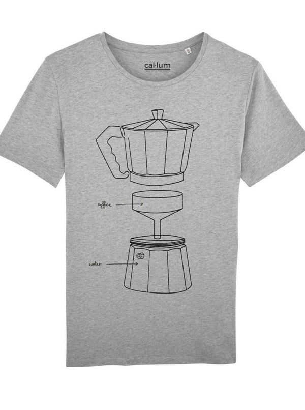 CAL-LUM t-shirts · camisetas coffee maker (grey) unisex t-shirt sustainable fashion ethical fashion