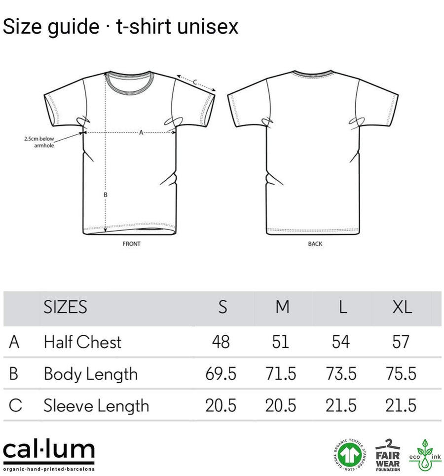 CAL-LUM t-shirts · camisetas coordinates unisex t-shirt (black) sustainable fashion ethical fashion