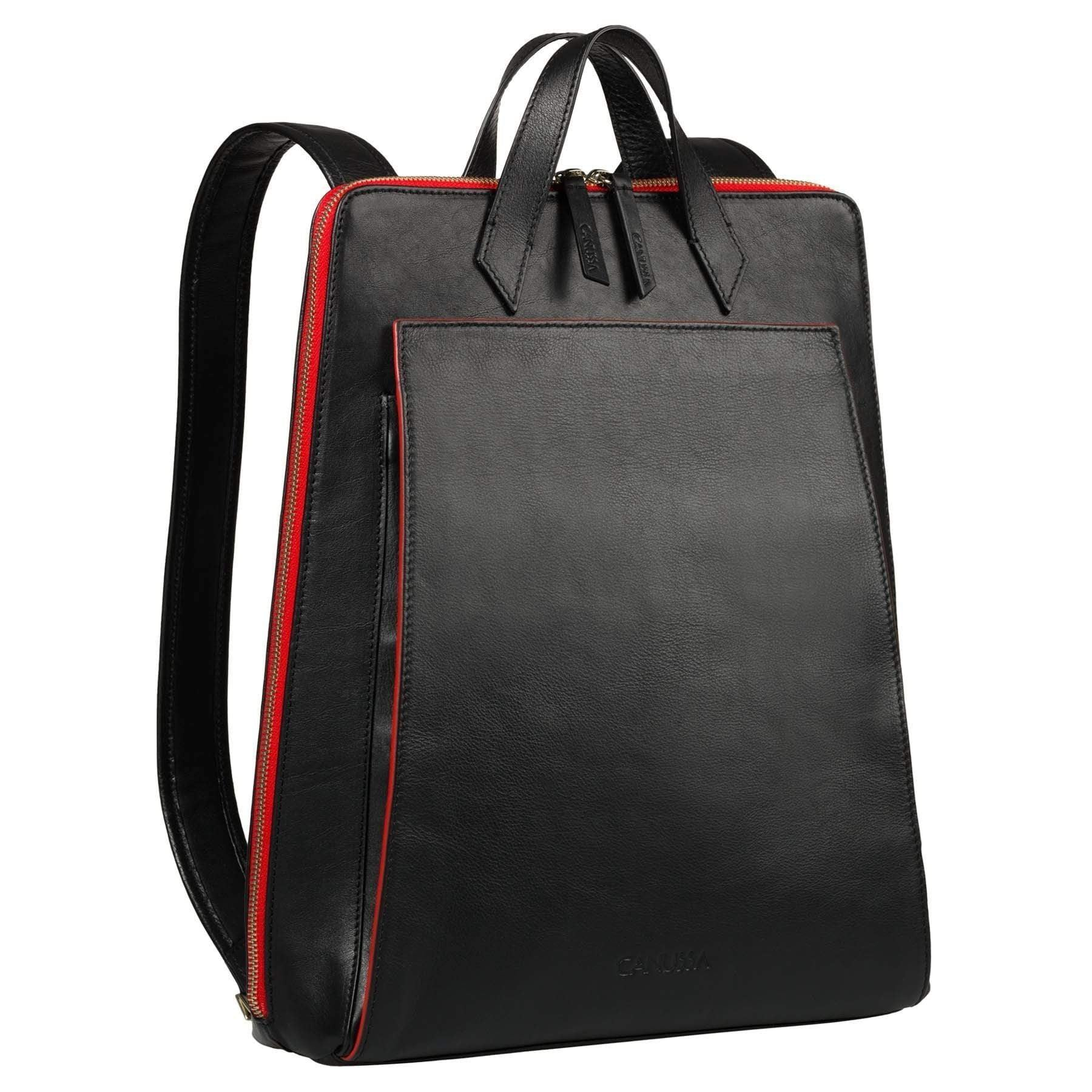 Canussa BackPacks Urban Backpack Black/Red - Vegan Laptop Backpack sustainable fashion ethical fashion