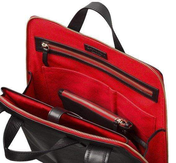 Canussa BackPacks Urban Backpack Black / Red - Zaino per laptop vegano moda sostenibile moda etica