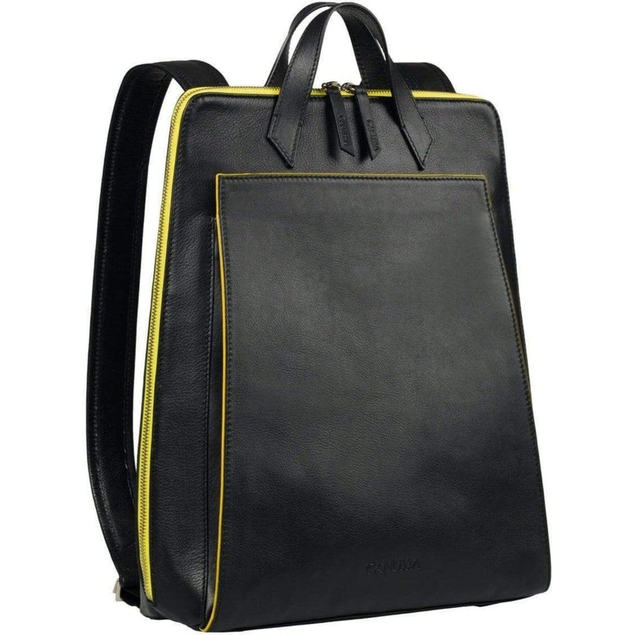 Canussa Backpacks Urban Backpack Black / Yellow - Motxilla portàtil vegana moda ètica de moda sostenible