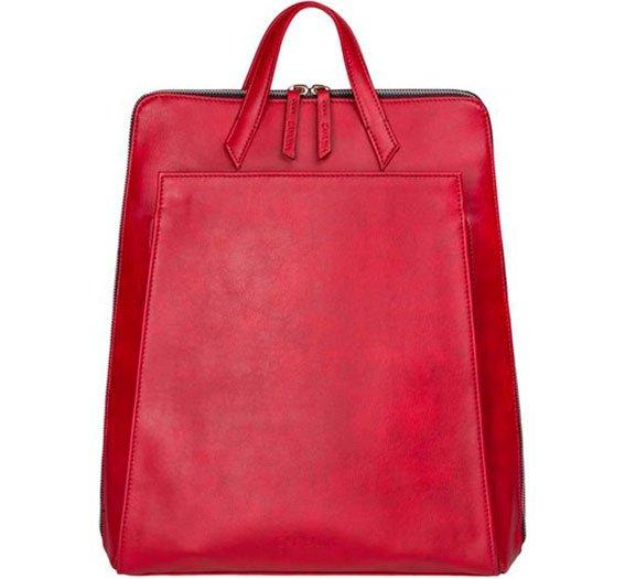 Canussa BackPacks Urban Backpack Red - Zaino per laptop vegano moda sostenibile moda etica