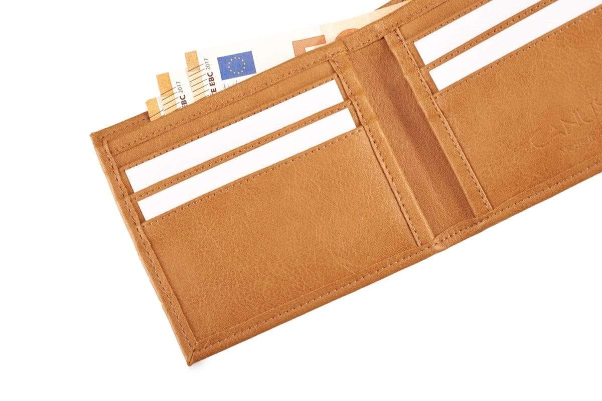 Canussa Slim Wallet Slim Vegan Wallet -  Camel sustainable fashion ethical fashion