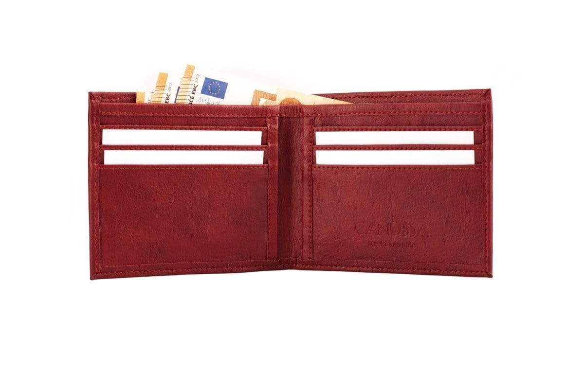 Canussa Slim Wallet Slim Vegan Wallet - Red sustainable fashion ethical fashion