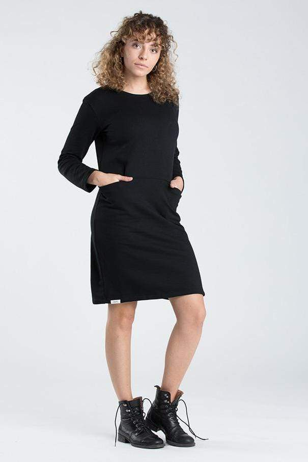 [eyd] dress Black Dress Kaitha in Organic Cotton. sustainable fashion ethical fashion