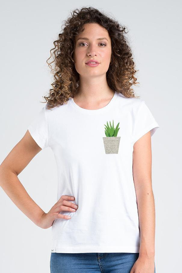 "[eyd] top XS T-Shirt ""Pocketplant"". Organic Cotton. sustainable fashion ethical fashion"