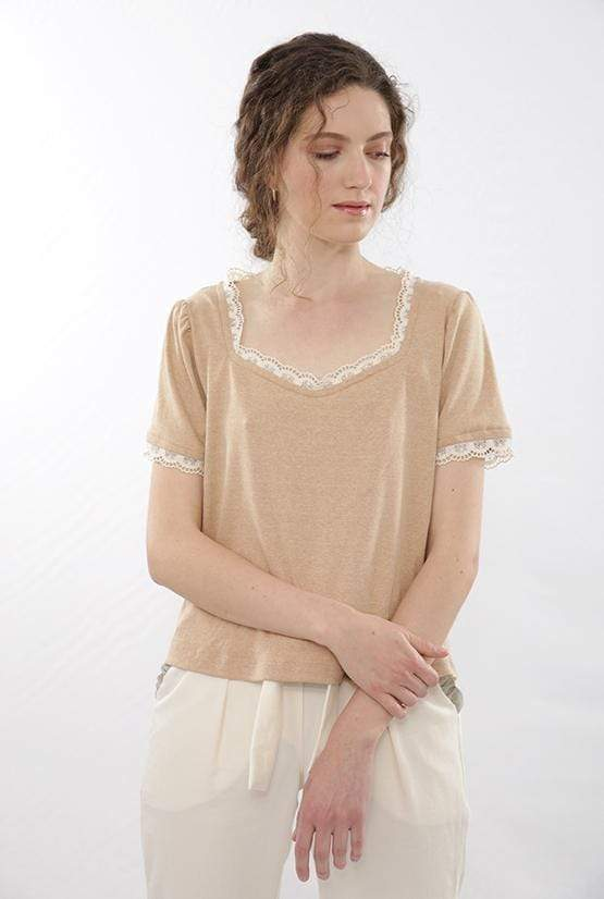 Finet Shop-Tops CAMEO ROSE TOP sustainable fashion ethical fashion