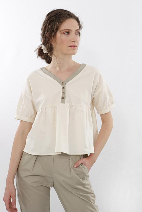 Finet tops Blouse in Organic Cotton sustainable fashion ethical fashion