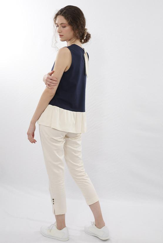 Finet tops Mini ruffle top in Organic Cotton sustainable fashion ethical fashion