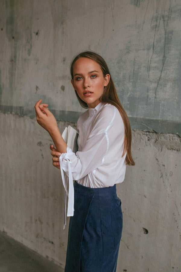 Framiore Browse the collection white LUV blouse sustainable fashion ethical fashion