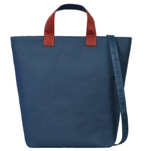 Goodforall bv Bags RPET Blue MY CIRCLE BAG Shopper in Vegan and Recycled PET. sustainable fashion ethical fashion