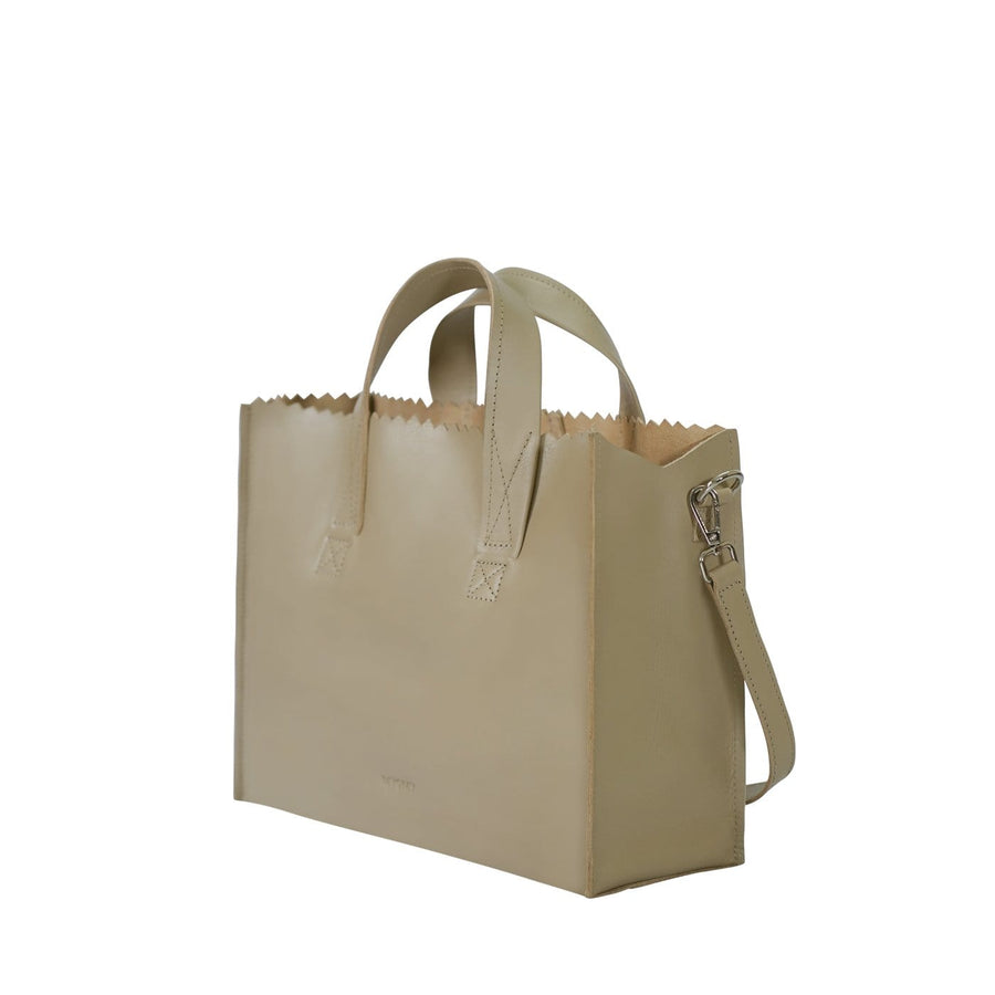 Goodforall bv Bags MY PAPER BAG Handbag cross-body in Leather and Recycled PET. sustainable fashion ethical fashion