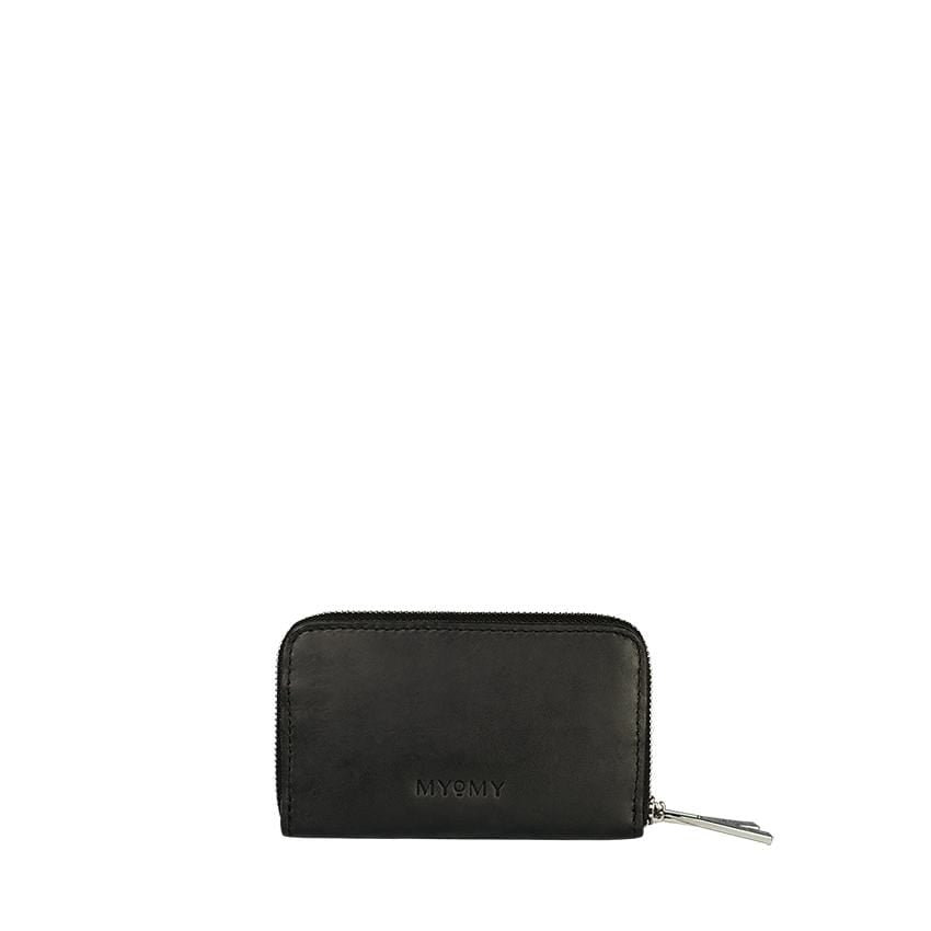 Goodforall bv Women Black Medium Wallet in Leather and Recycled PET. sustainable fashion ethical fashion