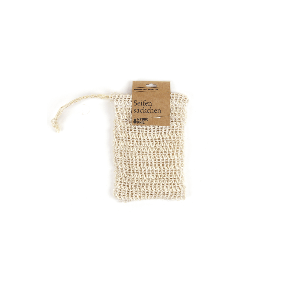 HYDROPHIL accessory Soap Bag in Sisal. sustainable fashion ethical fashion
