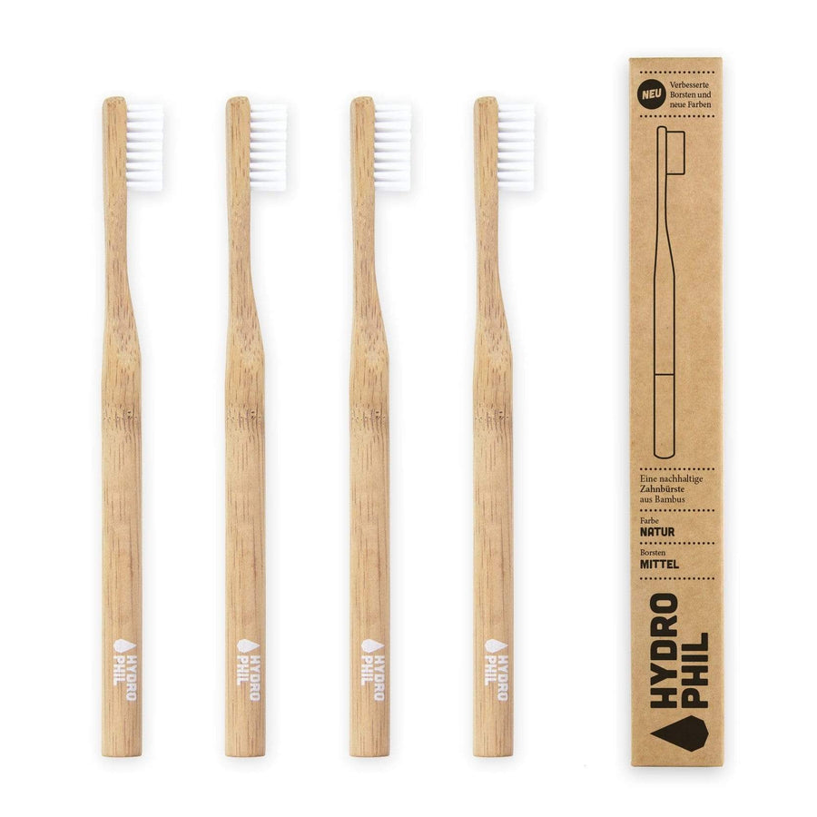 HYDROPHIL accessory Sustainable Toothbrush (Natural - Medium Soft) in Renewable Raw Materials. sustainable fashion ethical fashion