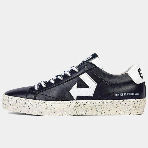 Duri Mix Black Sneakers in Upcycled Apple, Grape Leather and Recycled Materials.