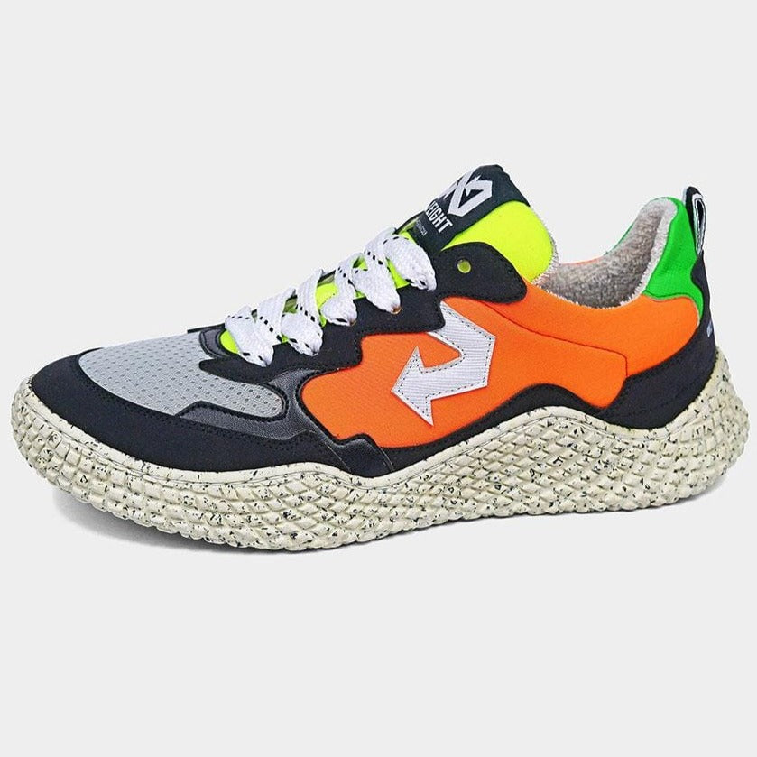Hana Mix Fluo Sneakers in Recycled Materials and Upcycled Apple Leather.