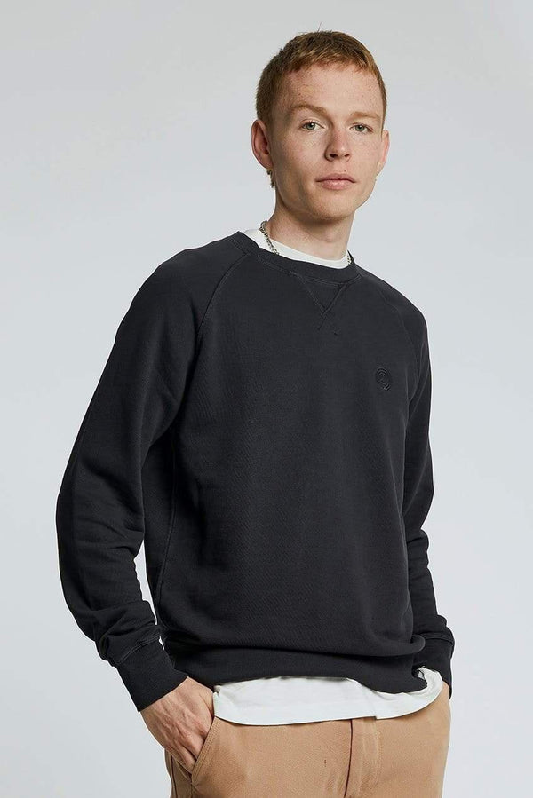 KOMODO Jumper ANTON Mens - GOTS Organic Cotton Crewneck Black sustainable fashion ethical fashion