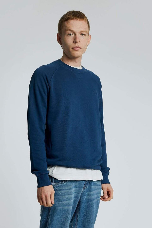KOMODO Jumper ANTON Mens - GOTS Organic Cotton Crewneck Navy sustainable fashion ethical fashion