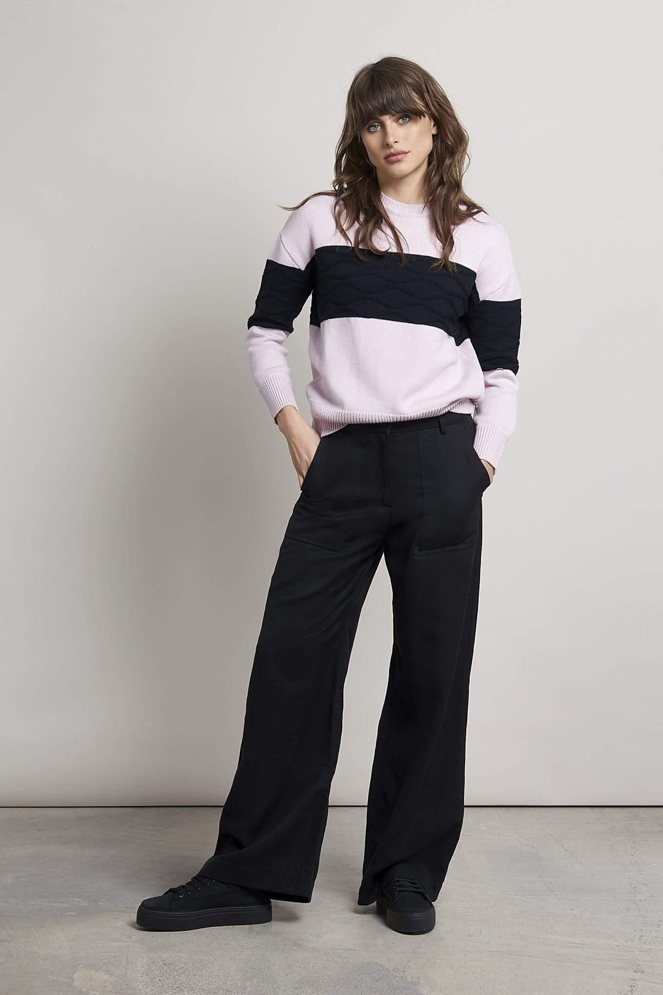 KOMODO pant FISHER Wide Trousers. Tencel and Linen. sustainable fashion ethical fashion