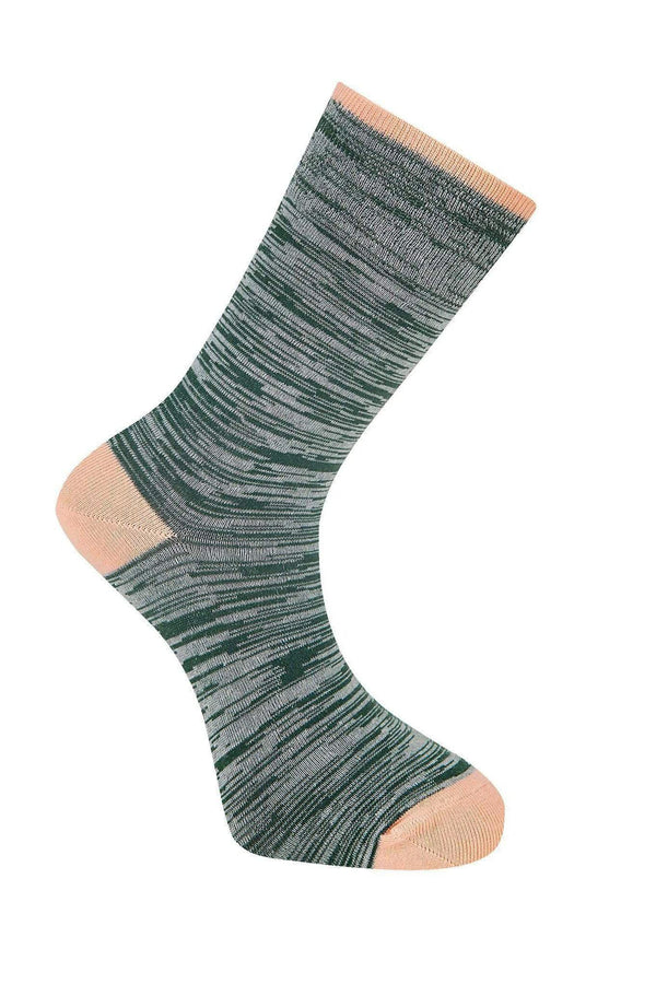 KOMODO Socks Space Dye Emerald Organic Cotton Socks bærekraftig moteetisk mote