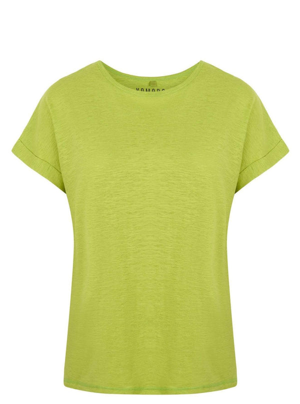 KOMODO Top SUNRISE Hemp Samarreta Apple Green moda sostenible moda ètica