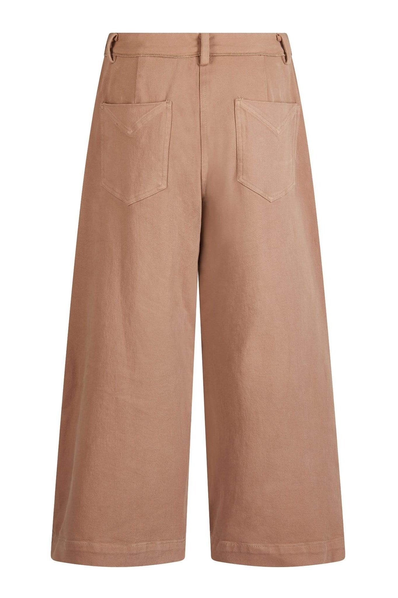 KOMODO Trousers HOLY COW Organic Cotton Culottes Dark Sand sustainable fashion ethical fashion